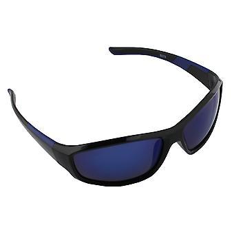 Sonnenbrille UV 400 Sport Rechteck Polarisieren Glas blau blau S373_7 FREE BrillenkokerS373_7
