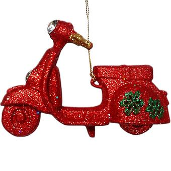 Gisela Graham Red Glittered Scooter Decoration | Handpicked Gifts