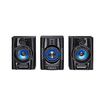 ب البضائع ماك MPS 501 عالية الطاقة هاي فأي نظام الصوت مع الدأب +، بلوتوث، USB، CD، AUX، RDS-1 قطعة سوداء