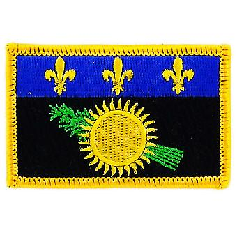 Patch Ecusson Brode Flag Guadeloupe Gwada 971 Thermocollant Insigne Blason