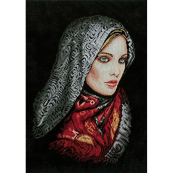 LanArte Women In Veil On Aida Counted Cross Stitch Kit-13.5