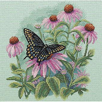 Butterfly & Daisies Counted Cross Stitch Kit 11