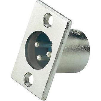 XLR socket Paccs EINBAUSTECKER XLR-MALE, NICKEL