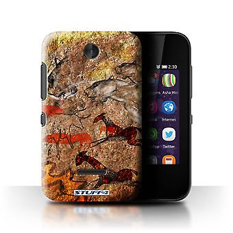 STUFF4 Case/Cover for Nokia Asha 230/Stampede/Red/Cave Painting