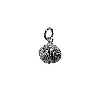 Zilver 9x11mm Sea shell hanger of Charm