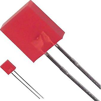 LED wired Red Rectangular 7 x 2.3 mm 9 mcd