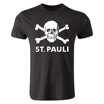 St Pauli Skull and Crossbone T-Shirt (Black)