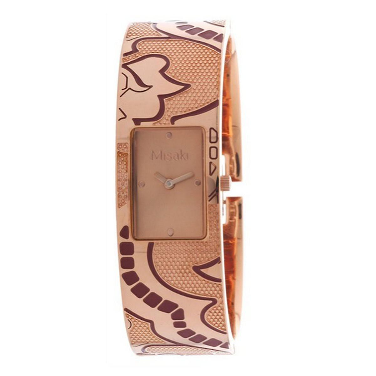 Misaki ladies clock watch steel rose gold QCRWELISALARGE