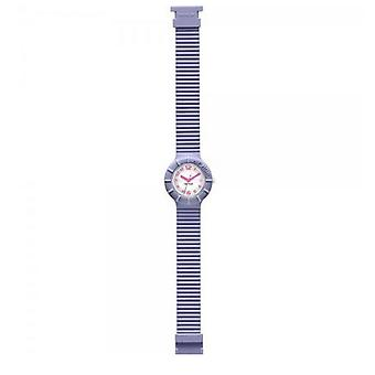 Hip Hop clock watch silicone Numbers lavender HWU0126