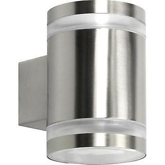Outdoor wall light Energy-saving bulb, LED GX53 10 W Ranex Sonya 10.068.55 Stainless steel
