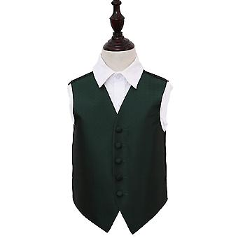 Boy's Greek Key Dark Green Wedding Waistcoat