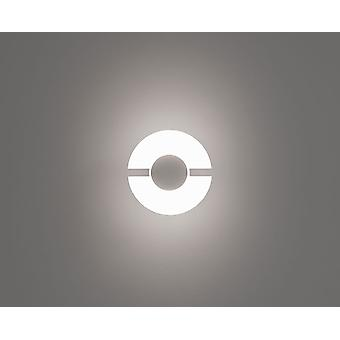 LED Wall lamp vivo helped & aluminum half 16 cm 6W 3000 K Ø Matt White 10703