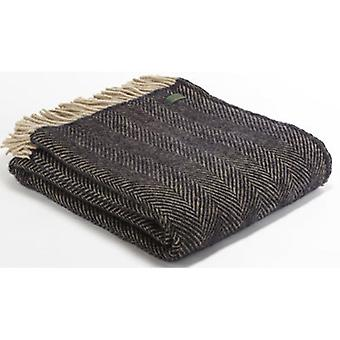 Tweedmill Pure New Wool Herringbone Throw - Vintage