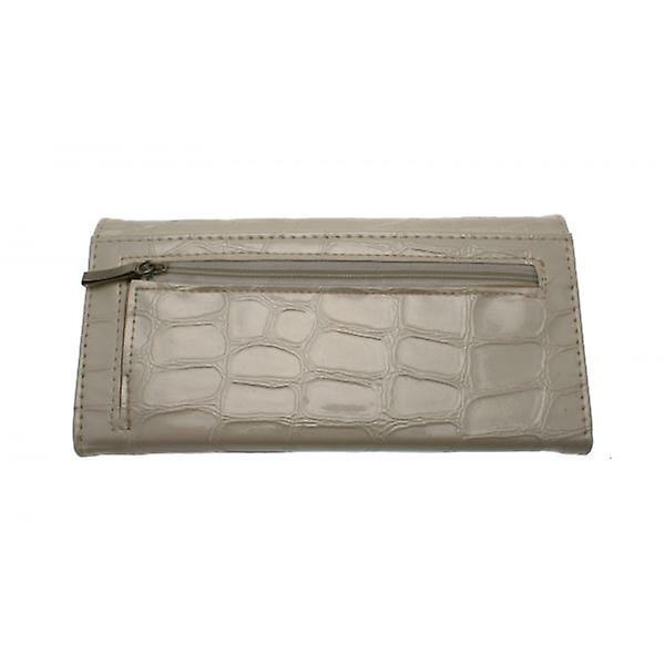 W.A.T White Synthetic Reptile Skin Wallet