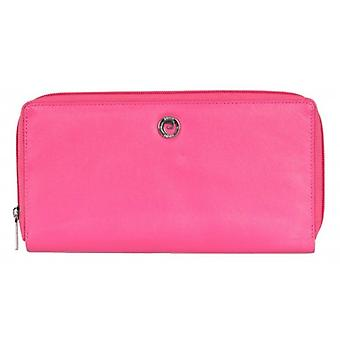Pierre Cardin Zip Around Travel Purse - Bright Pink