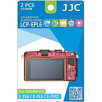 JJC vakt Film Crystal Clear Screen Protector for Olympus Pen E-PL5, E-PL6, E-PM2 - ingen kutte (2 Film pakke)