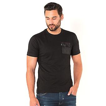 883 POLICE Crespa Button Down Pocket T-Shirt | Black