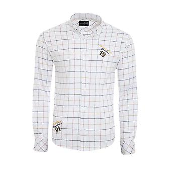 Tazzio fashion shirt men's Plaid Shirt white G-706