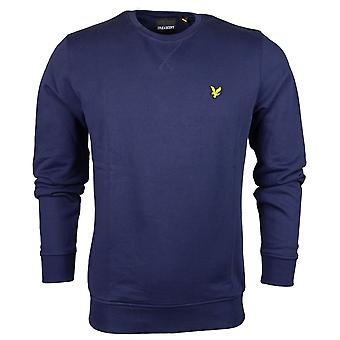 Lyle & Scott Ml424vb Plain rund hals marinblå tröja