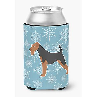 Winter Snowflake Airedale Terrier Can or Bottle Hugger