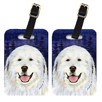 Carolines Treasures  SS8242BT Pair of 2 Great Pyrenees Luggage Tags