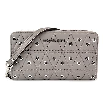 Michael Kors Grommets Leather Multi-functional Wallet - Grey - 32F7SFDE9O-081