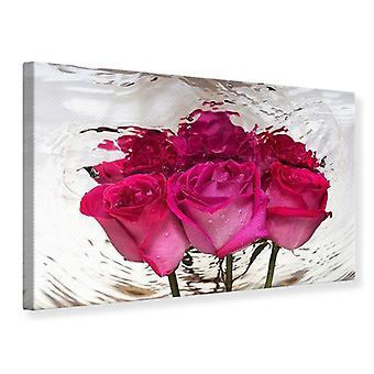Leinwand drucken die Rose-Reflexion