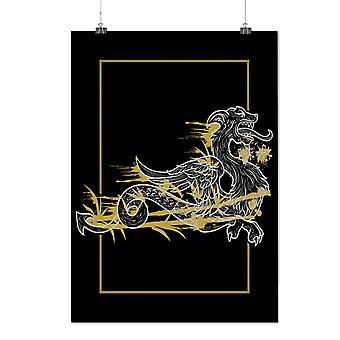 Matte or Glossy Poster with Dragon Beast Asia Fantasy | Wellcoda | *d1286