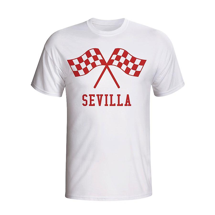 Sevilla Waving Flags T-shirt (white)