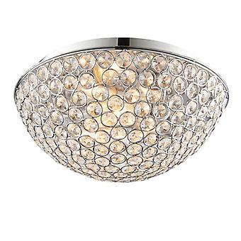 Chryla Bathroom Flush Ceiling Light - Endon 60103