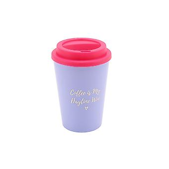 CGB Giftware Willow And Rose Coffee Is My Daytime Wine Travel Mug