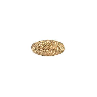 Ideale Lux - koning grote gouden Flush Idl073231