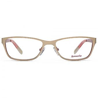 Accessorize Rectangle Flat Sheet Glasses In Gold