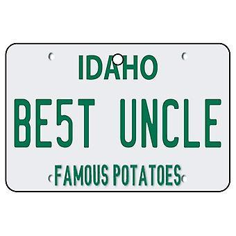 Idaho - Best Uncle License Plate Car Air Freshener