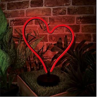 Global Gizmos 30cm Retro Heart LED Neon Light