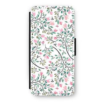 iPhone 5/5 s/SE フリップ ケース - 可憐な花