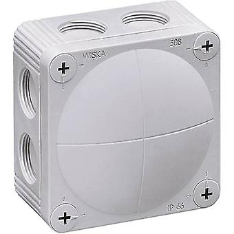 Junction box (L x W x H) 85 x 85 x 51 mm Wiska 10060400 Grey (RA