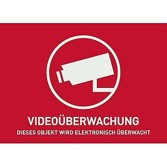 Warnschild CCTV Sprachen Deutsch (W x H) 74 x 52,5 mm
