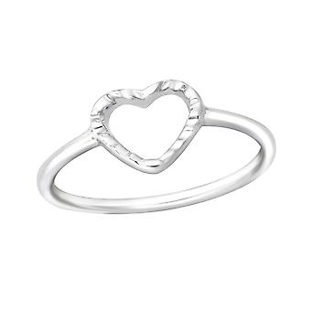 Heart - 925 Sterling Silver Rings