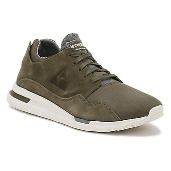 Le Coq Sportif Mens Olive Night Green LCS R Pure Trainers