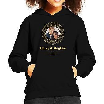 Goldrahmen Harry und Meghan Royal Wedding Kid's Kapuzen-Sweatshirt