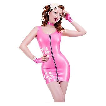 Westward Bound Boudoir Love Heart Latex Rubber Skirt