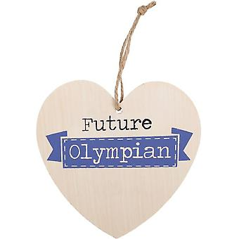 Something Different Future Olympian Hanging Heart Sign