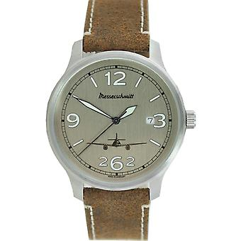 Aristo gentlemen Messerschmitt Fliegeruhr ME42-ALU-L leather watch
