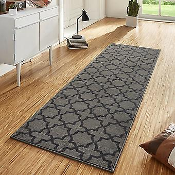 Design velour carpet runners bridge Glam grey