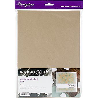 Hunkydory Superior Stamping Cardstock A4 25/Pkg-Kraft