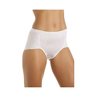 Camille Womens Shapewear Control White Deep Briefs