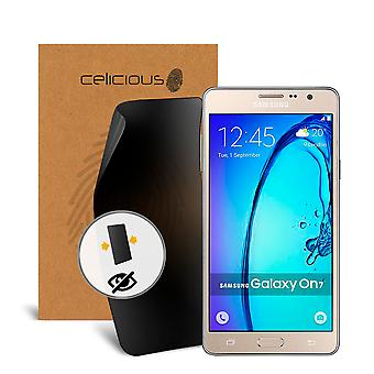 Celicious Privacy 2 vie Visual Black Out Screen Protector per Samsung Galaxy On7 (2016)