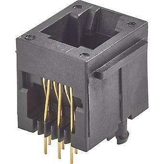 RJ12-monté socket Socket, vertical vertical nombre de broches: 6P6C Modular Jack Black FCI 90512-001LF 1 PC (s)
