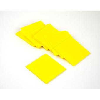 10 Yellow Small Craft Foam Squares | Childrens Craft Foam